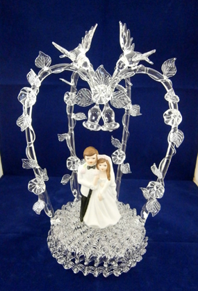 crystal bride and groom wedding cake toppers with and groom 13104